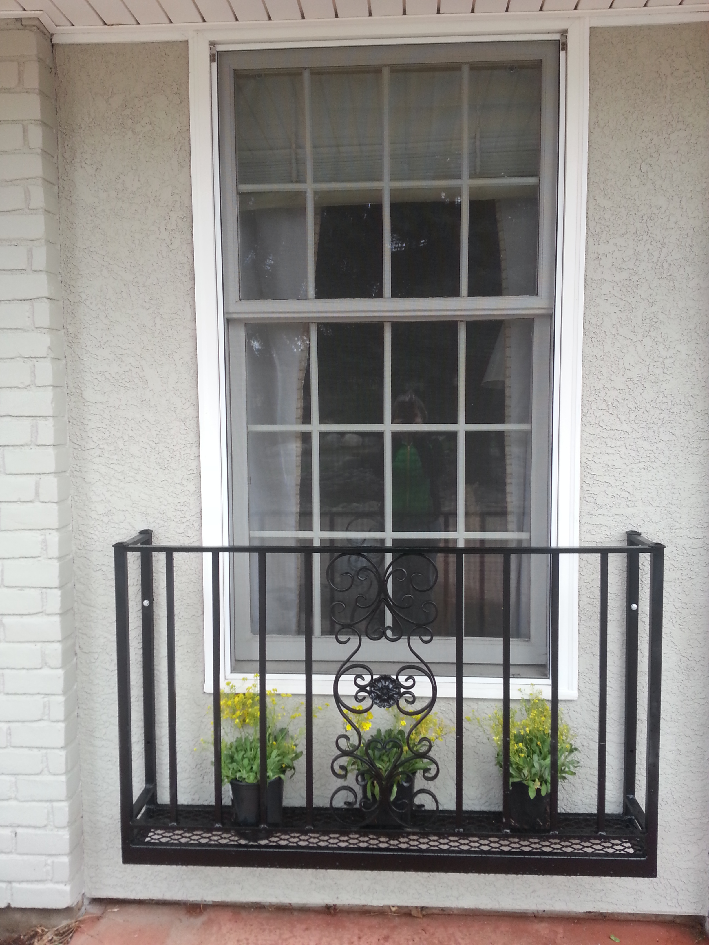 We fabricate wrought iron juliet balconies balcony railings for Juliet balcony