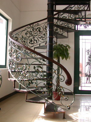 Charmant Or Curved Staircase Railings. We Have Had Clients Request Solid Railings  And Hollow Railings, Wrought Iron, Forged Iron, Just About Anything Can Be  Made, ...